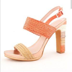🌞🌞🌞 Vince Camuto Orange/Tan/Copper/Cream heels